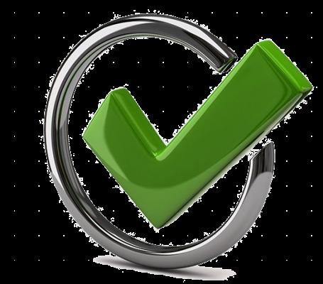 green tick matching green colour scheme