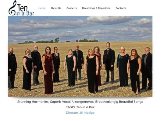 web design for choir