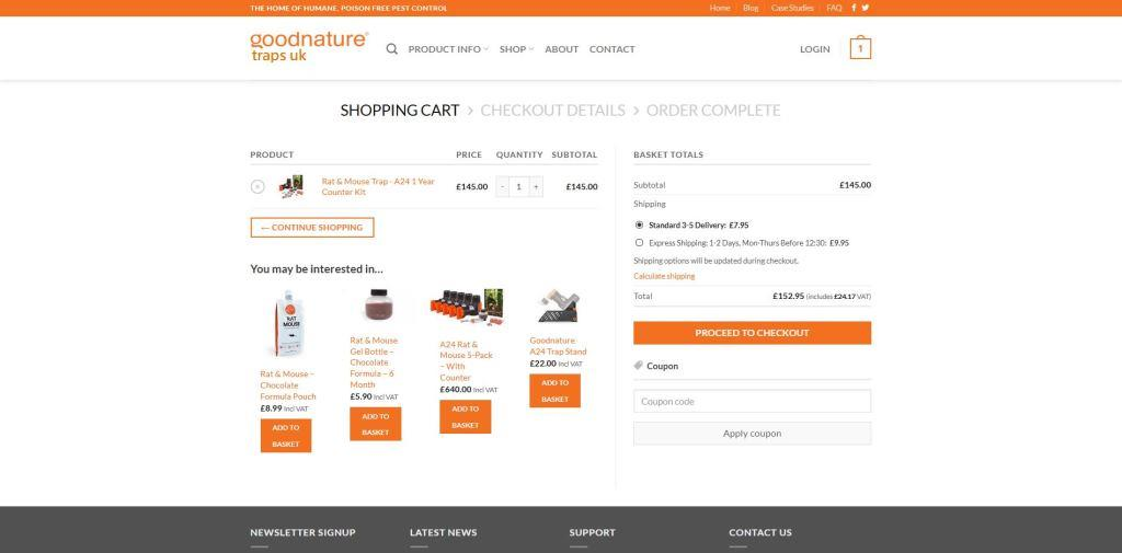 online shop simple basket screen with you may also like