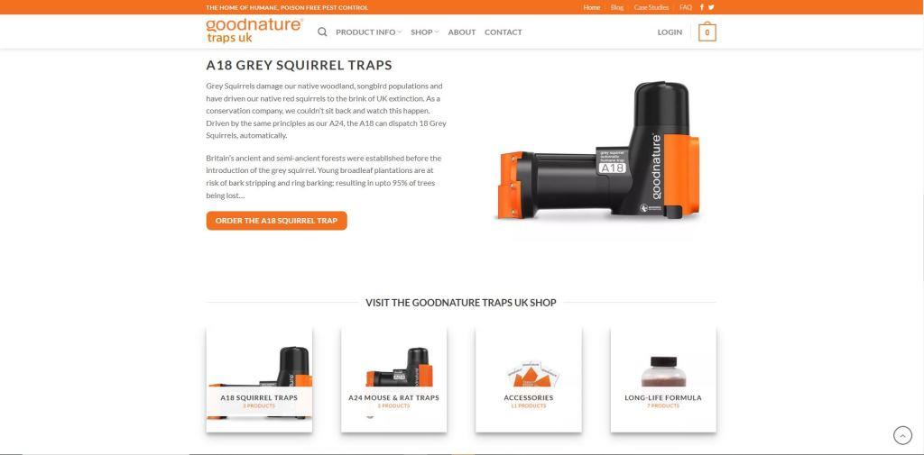 gn uk homepage design layout