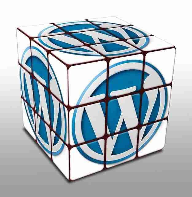 rubix cube with wp logo's